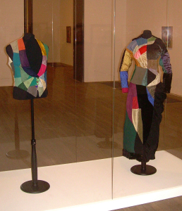 Simultaneous gilet and dress, fabric patchwork, 1913